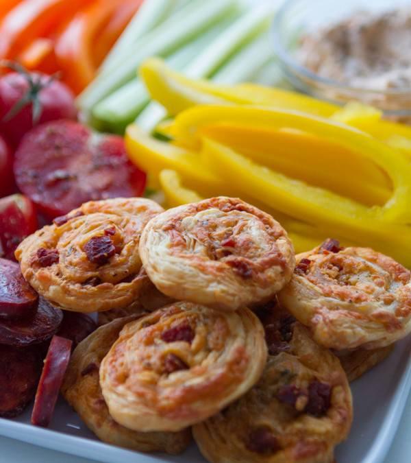 Chorizo Manchego Pinwheels