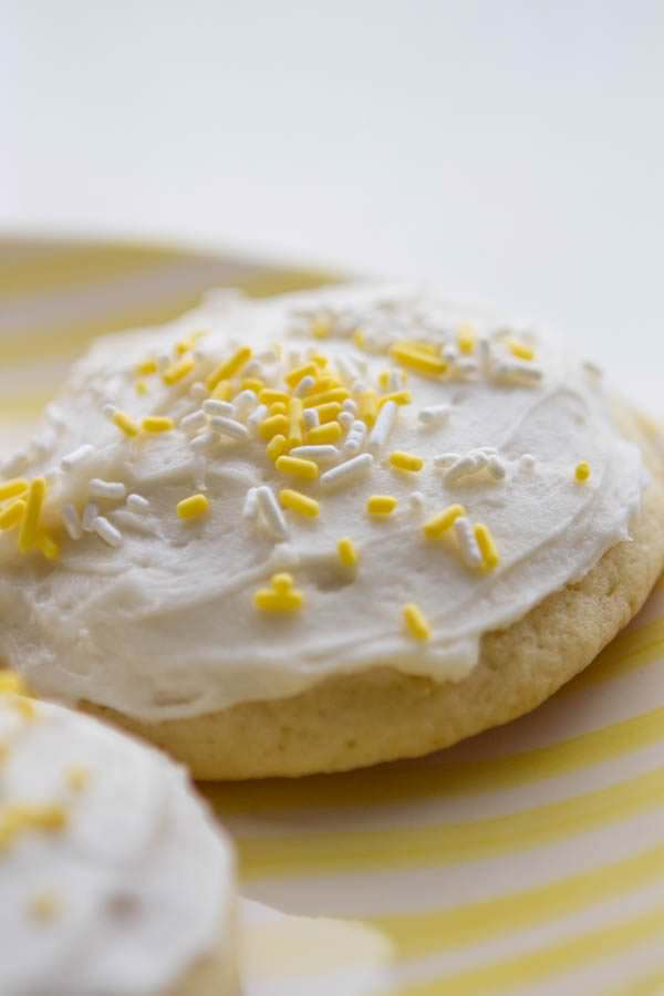 Lemon Sour Cream Sugar Cookies