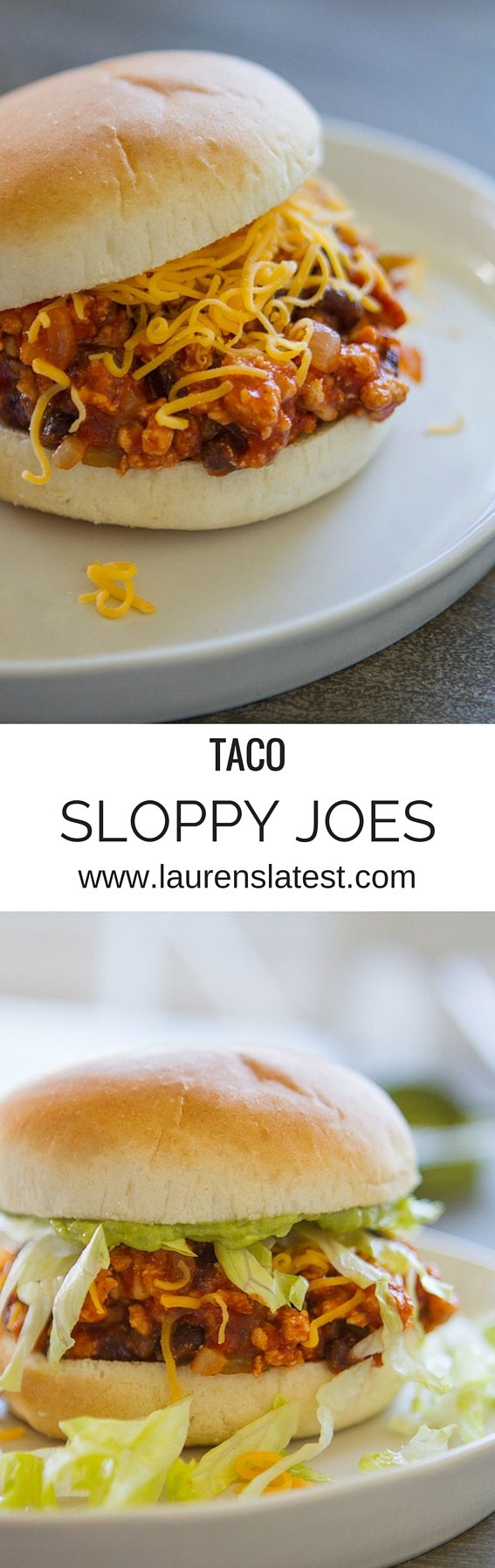 If you love sloppy joes, you will love these taco sloppy joes! Get all the flavors of a taco with all the great toppings in a messy sloppy joe dinner. My kids gobbled these up so fast! Delicious!