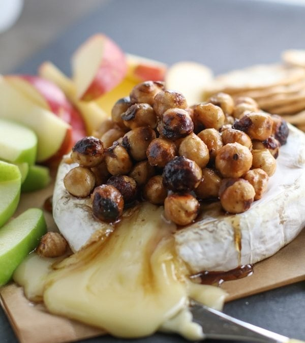 Baked Brie with Brown Sugar Hazelnuts