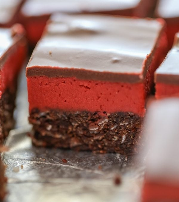 Red Velvet Nanaimo Bars