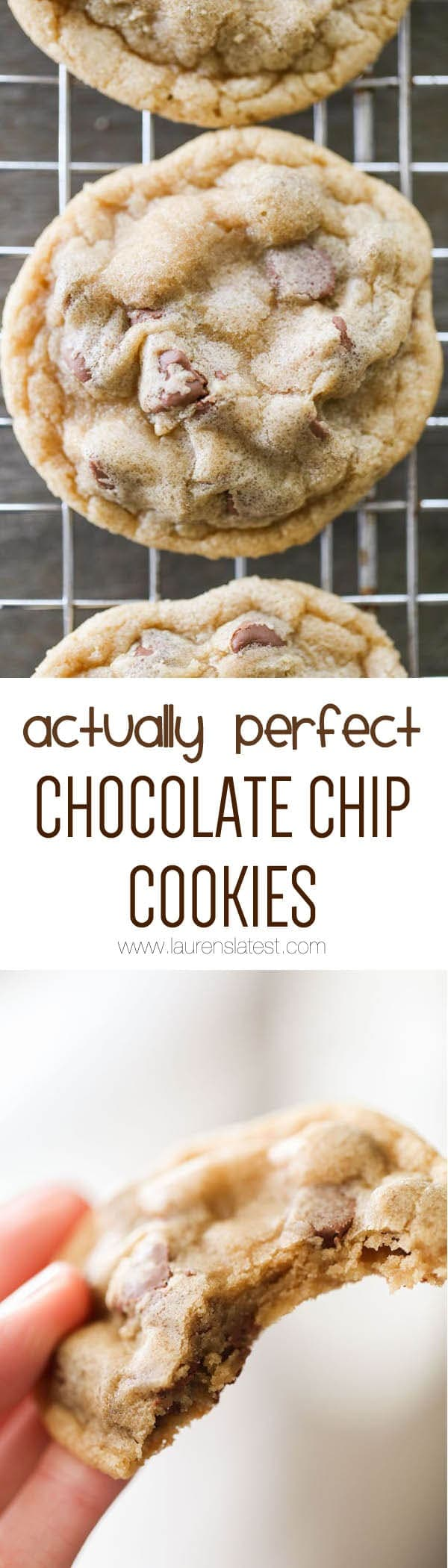 Actually Perfect Chocolate Chip Cookies - Lauren's Latest