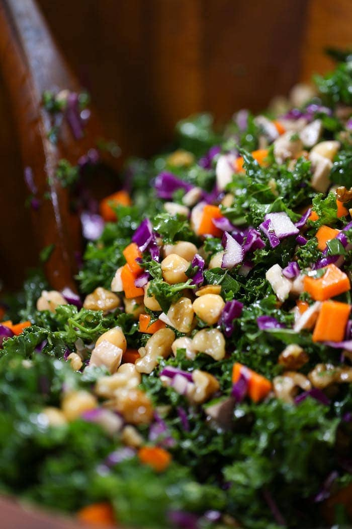 This Superfood Kale Salad is healthy, satisfying, and super easy to toss together!