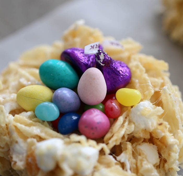 Marshmallow Potato Chip Easter Nests