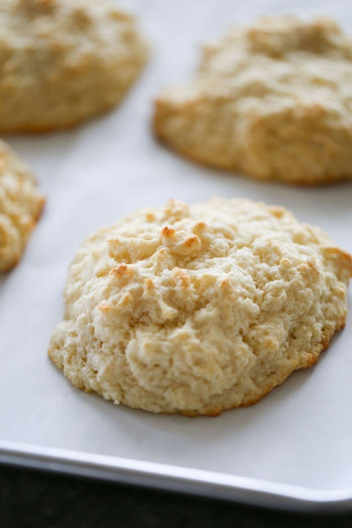 This recipe for Butter Drop Biscuits makes a quick and easy, tender and slightly sweet biscuit from scratch! Plus, they taste amazing!