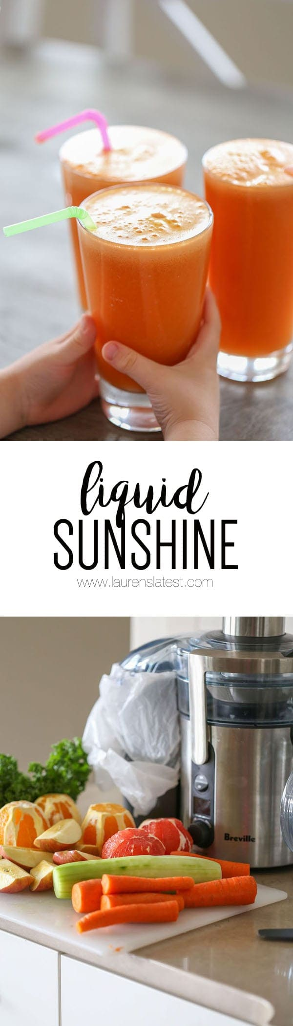 Liquid Sunshine is the best immune-boosting, nutrient rich, actually delicious fresh juice that will have you glowing from the inside out in no time!