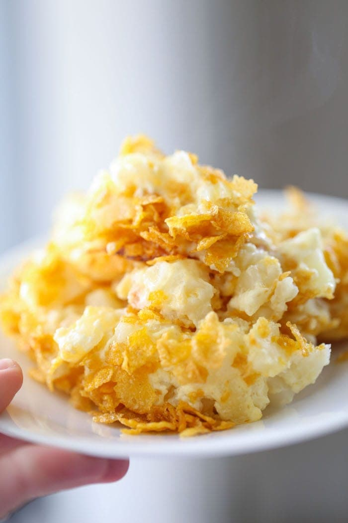 Funeral Potatoes...everyone has a recipe for this popular casserole! Here is my creamy and oniony version!