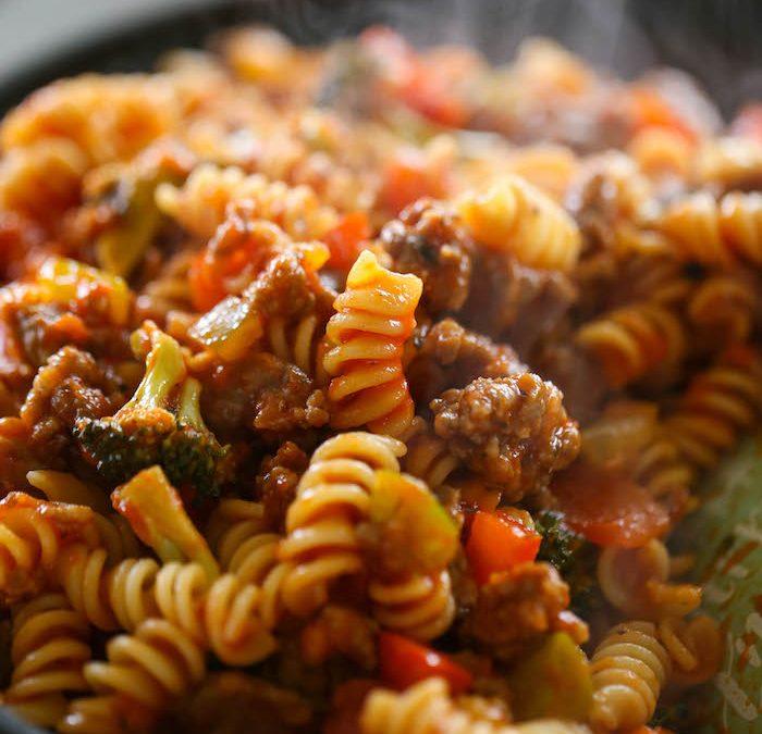Italian Sausage & Peppers Pasta