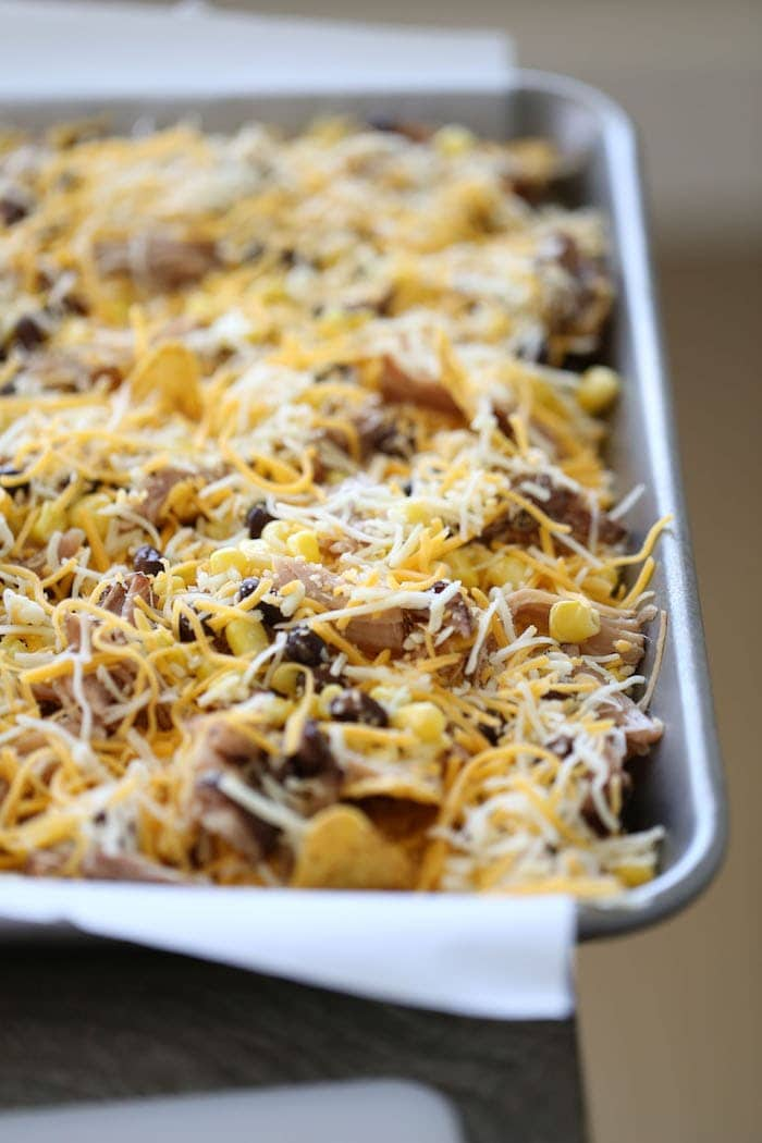 The only thing better than nachos are Loaded Carnitas Nachos! With a few helpful tricks, you can have this amazing, homemade appetizer on your table in minutes!