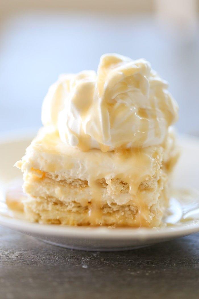 Salted Caramel Cake Recipe salted caramel ritz cracker ice box cake - lauren's latest