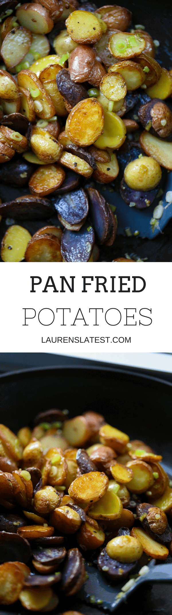 Pan Fried Potatoes are simple, easy, crispy, buttery, golden bites of heaven! Best potato side dish ever.