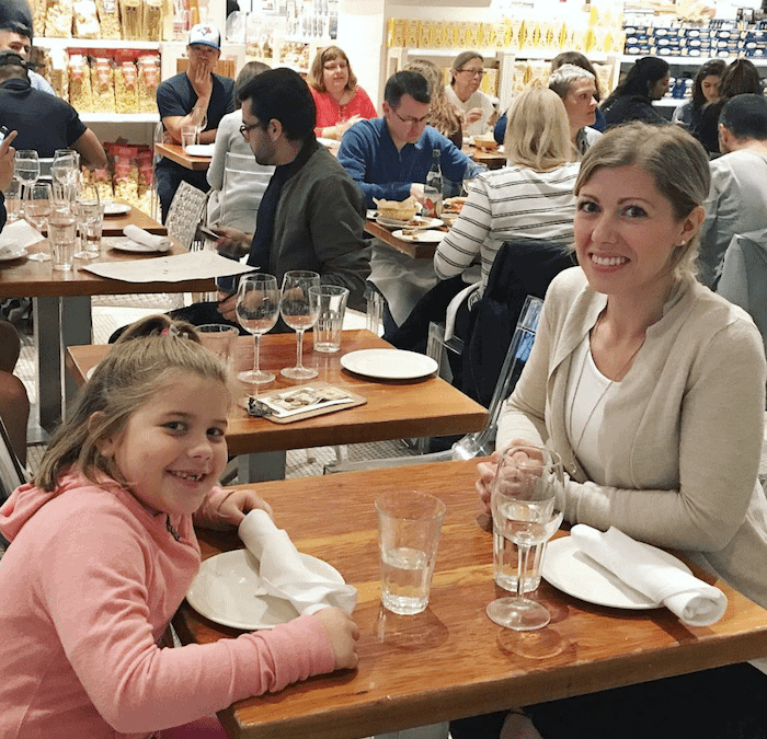 Mommy-Daughter Date in Eataly